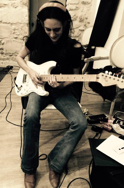 Recording new album - Tia with Strat